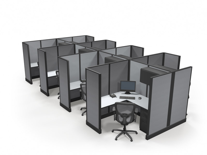 67 5 39 X5 39 Office Cubicle Pod Of 8 Special Offer